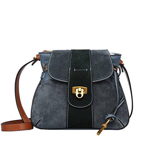 Leather Bag Shoulder Women Q0849 Fashion Casual Dissa Blue Handbag q6wTUxEz