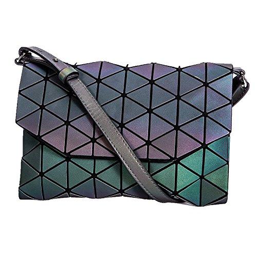 KAISIBO Geometric Metal Chain Shoulder Purses and Handbags Crossbody Messenger Bag(K3160) (Strap Luminous)