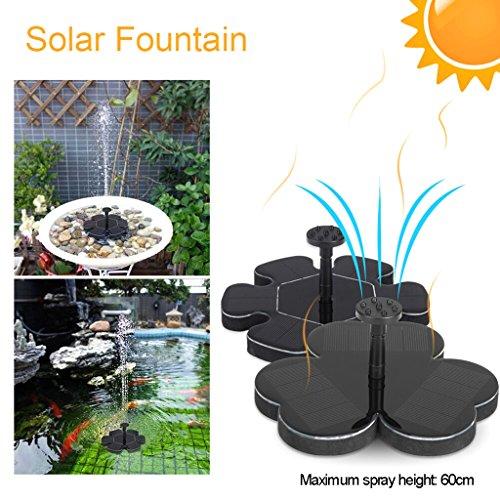Seaskyer Flower Type Gardening Solar Panel Fountain Water Pu