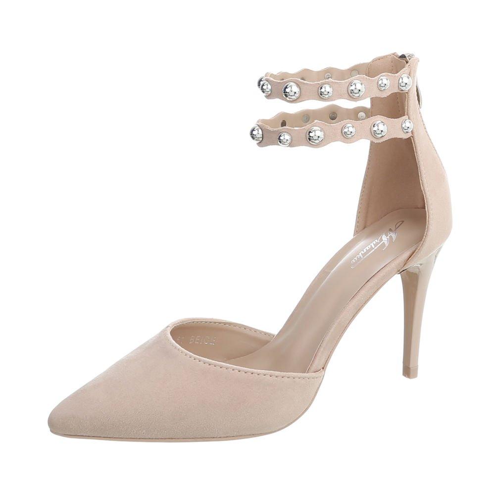 TALLA 37 EU. Ital-Design Zapatos para Mujer Zapatos de Tacon Tacón de Aguja Tacones Altos