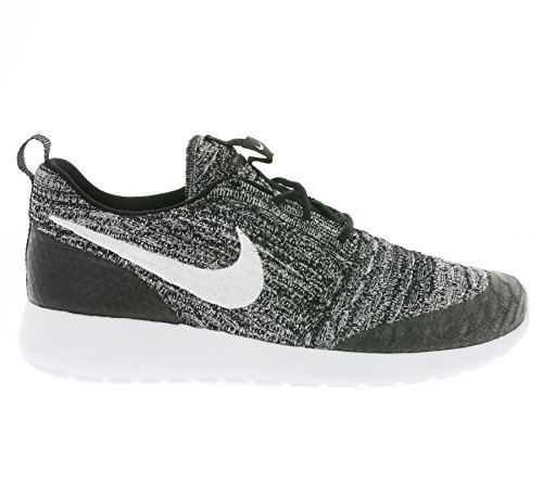 Nike Wmns Roshe One Flyknit, Zapatillas de Deporte para Mujer Negro (Black / White-Cool Grey)
