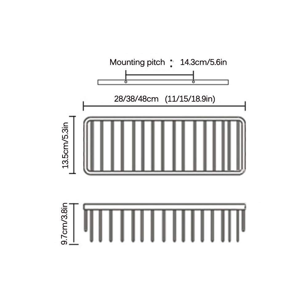 rasoirs et dautres Accessoires de Douche,1tier,38cm /éponges SHOW Panier de Douche Rangement de Douche en Acier Inoxydable pour shampooing