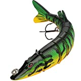 Goture Multi Jointed Hard Fishing Lure Life-like Pike Lure with Treble Hooks Freshwater Saltwater Fishing