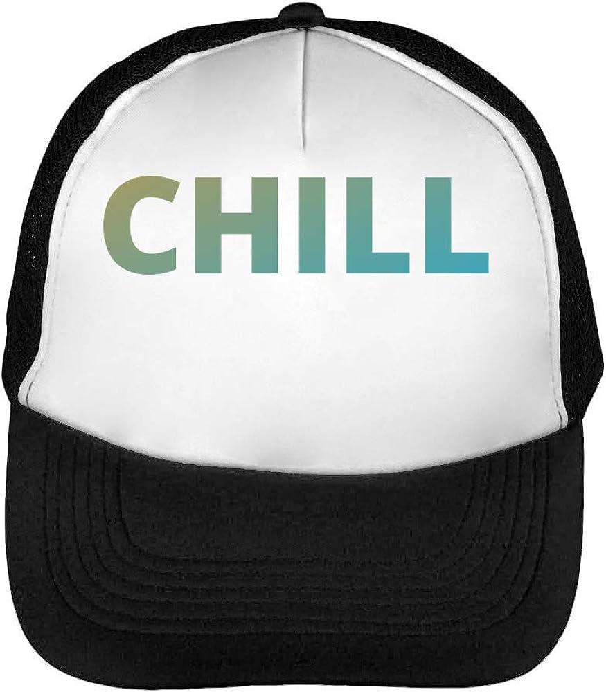Chill Logo Gorras Hombre Snapback Beisbol Negro Blanco: Amazon.es ...