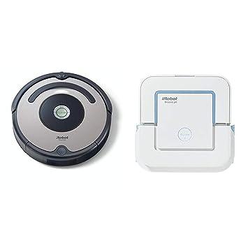 iRobot - Set con Roomba 615 Robot Aspirador para Suelos Duros y Alfombra, Tecnología Dirt