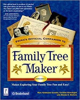 Book Prima's Official Companion to Family Tree Maker Version 7