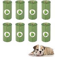 Pet Dog Poop Bag Rolls Dog Waste Bags Leak-Proof Degradable 15 pcs Doggy Bags Per Roll(8 Rolls)