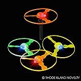 Dozen Assorted Color Light Up LED Flying Disc Shooter Toys