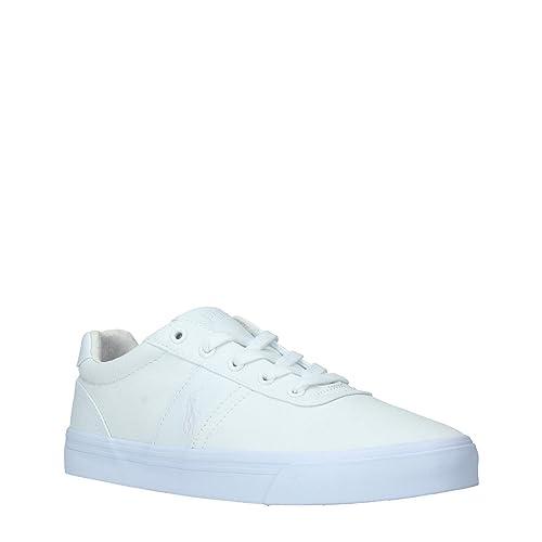 Polo Ralph Lauren - Zapatillas Bajas para Hombre - Sneakers Hanford Canvas Blanco para Hombre: Amazon.es: Zapatos y complementos