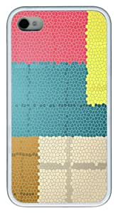 iPhone 4S/4 Case Cover - Mozaic Pattern Stylish Custom Design iPhone 4s/4 Case and Cover - TPU - White