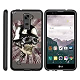 TurtleArmor | LG Stylus 2 Case | LG G Stylo 2 Case [Slim Duo] Slim Snap On 2 Piece Hard Cover Protector Rubberized Coating Unique Designs on Black - Motorbike Skull
