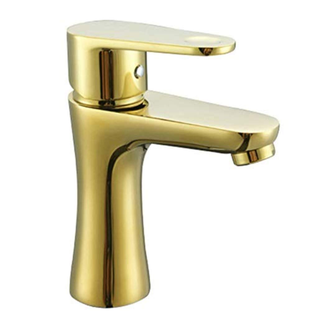 Basin Taps Swivel Spout Faucet Tap Copper Hot and Cold Water Basin Faucet European-Style gold-Plated Basin Mixer