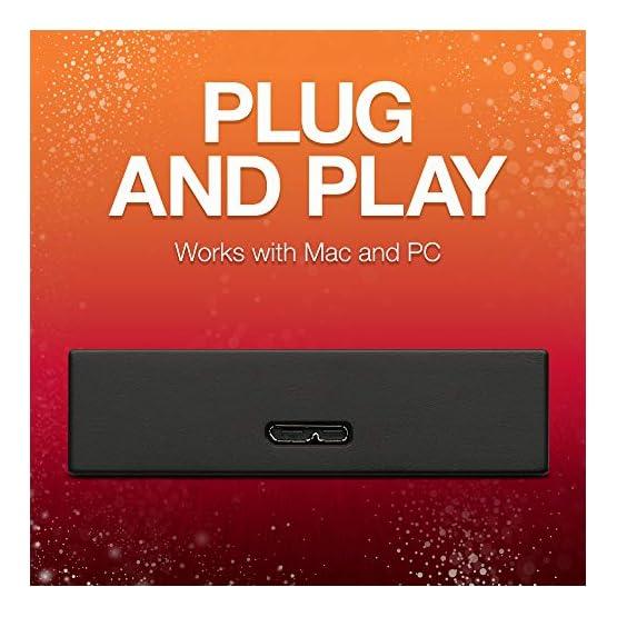 Seagate Backup Plus 5TB External Hard Drive Portable HDD Black USB 3.0, 1 year MylioCreate, 2 Months Adobe CC… 51Y4AM3k 7L. SS555
