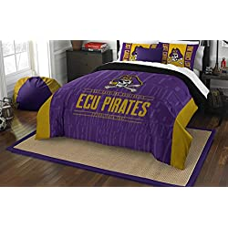 The Northwest Company Officially Licensed NCAA East Carolina Pirates Modern Take Full/Queen Comforter and 2 Sham Set