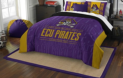 (The Northwest Company Officially Licensed NCAA East Carolina Pirates Modern Take Full/Queen Comforter and 2 Sham Set)