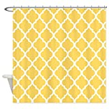Mustard Yellow Curtains Mustard Yellow Quatrefoil Pattern - Shower Curtain by VandarllinTM)