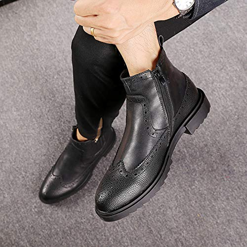 Utility Stivaletti Work Black Chelsea FCBDXN Uomo Uomo Desert Leather Footwear Stivaletti Brogue Business Boot Da Stivaletti OdxnqxUR