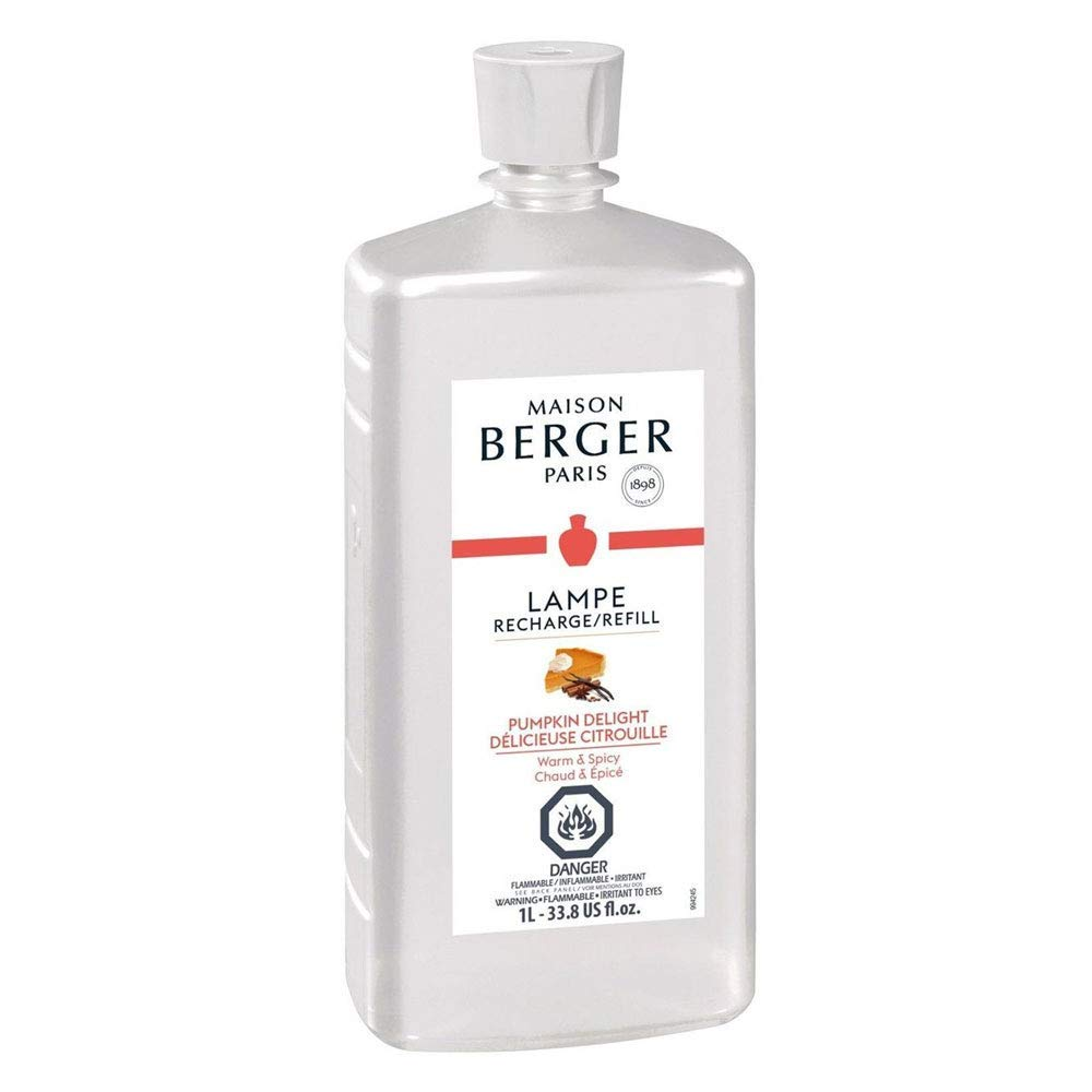 Pumpkin Delight   Lampe Berger Fragrance Refill for Home Fragrance Oil Diffuser   Purifying and perfuming Your Home   33.8 Fluid Ounces - 1 Liter   Made in France by MAISON BERGER