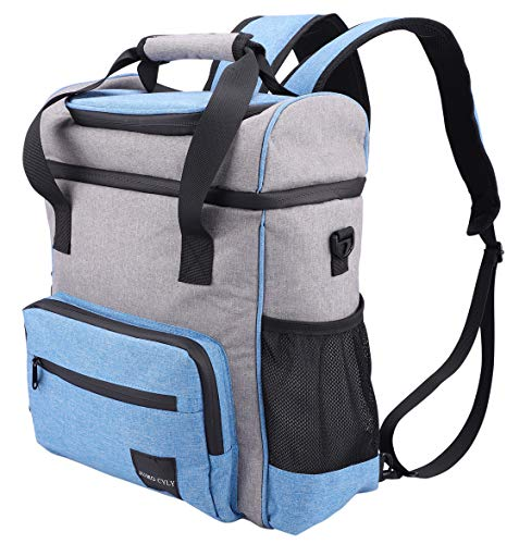 JUMO CYLY Cooler Backpack Leak Proof - Soft Backpack Coolers Insulated Large Capacity, Light Weight Beach Beer Cooler Bags Lunch Backpack for Men&Women, Hiking,Camping, Fishing,Picnic- 30 Cans (Blue)