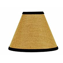 Home Collections by Raghu Black Burlap Stripe Lampshade, 14-Inch