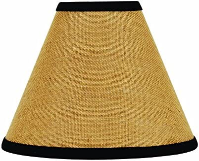 Home Collection by Raghu Burlap Stripe Black Wheat Lampshade, 16
