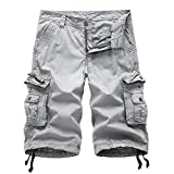 Oeak Men's Twill Cargo Shorts Multi Pockets Work Outdoor Wear