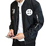 Premium New Hip Hop Patch Slim Fit Pilot Bomber Rib Sleeve Zipper Men Jacket