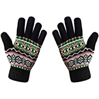 LETHMIK Womens&Girls Thick Knit Gloves Warm Winter Colorful Glove with Wool Lined