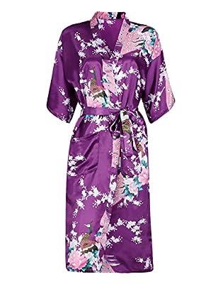 ADAMARIS Robes for Women Plus Size Thin Kimono Bathrobe Loungewear Sleepwear