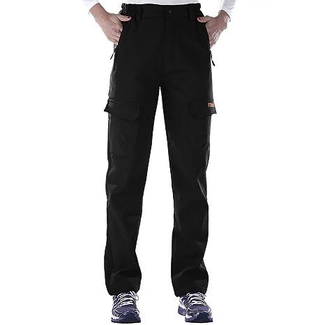386e59f7b3712 Nonwe Women s Skiing Pants Hiking Sports Snow Zip Pocekt Black S 30.5 quot