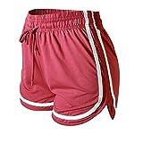 VALINNA Women's Athletic Yoga Running Workout Shorts Lounge Short Pants (L/XL (26' - 33'), Mulberry)