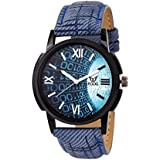 Fogg Analog Blue Dial Men's Watch 1078-BL