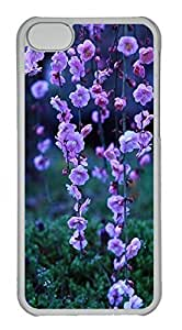 Customized iphone 5C PC Transparent Case - Peach Blossom Cover