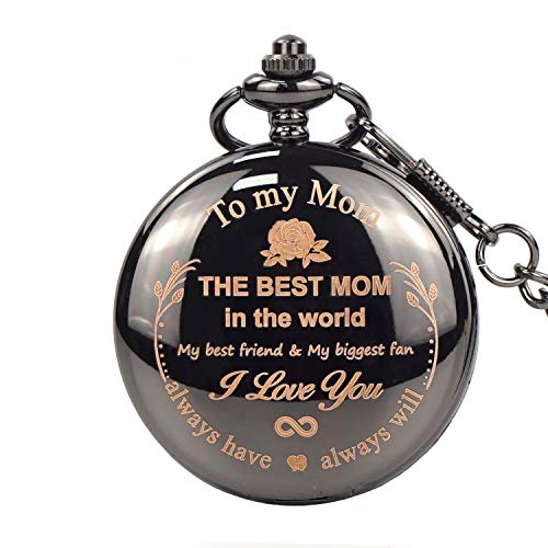 Gifts for to My mom The Best mom Engraved Pocket Watch -Christmas Birthday Gifts Retirement Gifts for (Mom New Version) ...