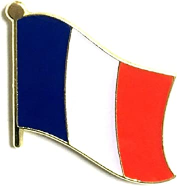 FRANCE COUNTRY FLAG METAL lapel PIN BADGE ..NEW