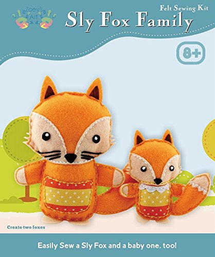 Kids Sewing Crafts Kits For Girls : Beginners Arts And Craft Kit Plush Fox Animal Mini Sew And Stuff Toy Learn Enjoy Have Fun With Endless Play - Create Memories That Last With This Fox Family ()