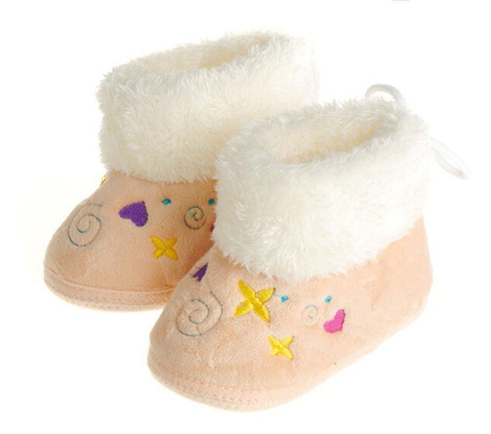 Femizee Infant Toddler Baby Girls Bowknot Warm Winter Boots Prewalker Crib Shoes