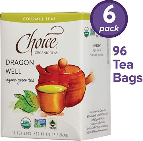 Choice Organic Teas Gourmet Herbal Tea, 6 Boxes of 16 (96 Tea Bags), Licorice Mint, Caffeine Free