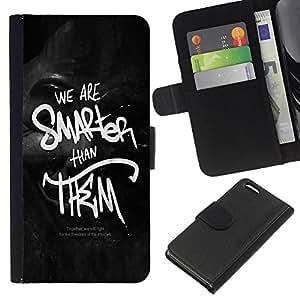 BearCase / Cuero de la tarjeta la carpeta del tirón Smartphone Slots Protección Holder /// Apple Iphone 5C /// Somos más inteligentes que ellos