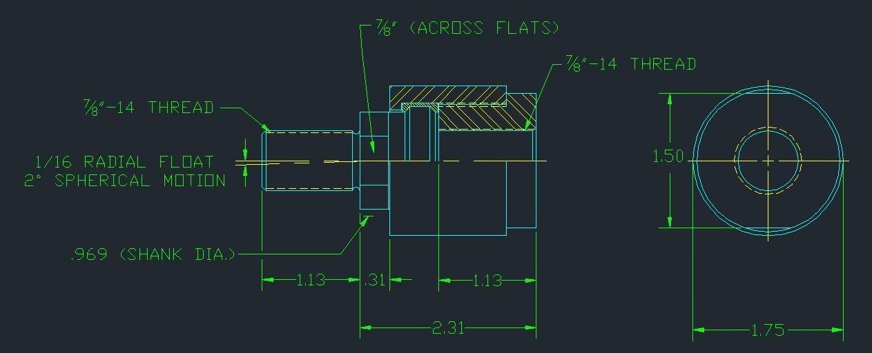 Aggressive Hydraulics BD-875F Alignment Coupler by Aggressive Hydraulics
