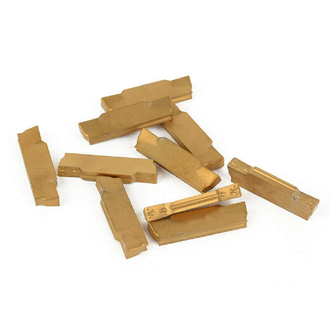 10pcs MGMN300-M Golden Carbide Inserts for MGEHR//MGIVR Grooving Cut-Off Tool