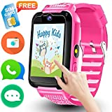 Cheap Kids Smart Watch Phone – [Speedtalk SIM Included] Kids Smartwatch for 3-14 Year Boys Girls Touch Screen Camera Game Sport Outdoor Digital Wrist Cellphone Watch Bracelet for Summer Holiday School Gift