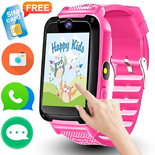 Cheap Kids Smart Watch Phone – [Speedtalk SIM Included] Kids Smartwatch for 3-14 Year Boys Girls Touch Screen Camera Game Sport Outdoor Digital Wrist Cellphone Watch Bracelet for Summer Holiday School Gift