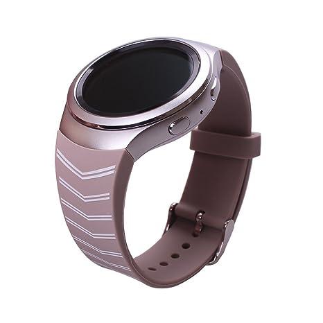 Ykunjade Gear S2 SM-R720 Correa, Silicone Watch Correa Strap ...