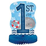 "14"" Nautical Boys 1st Birthday Centerpiece Decoration"