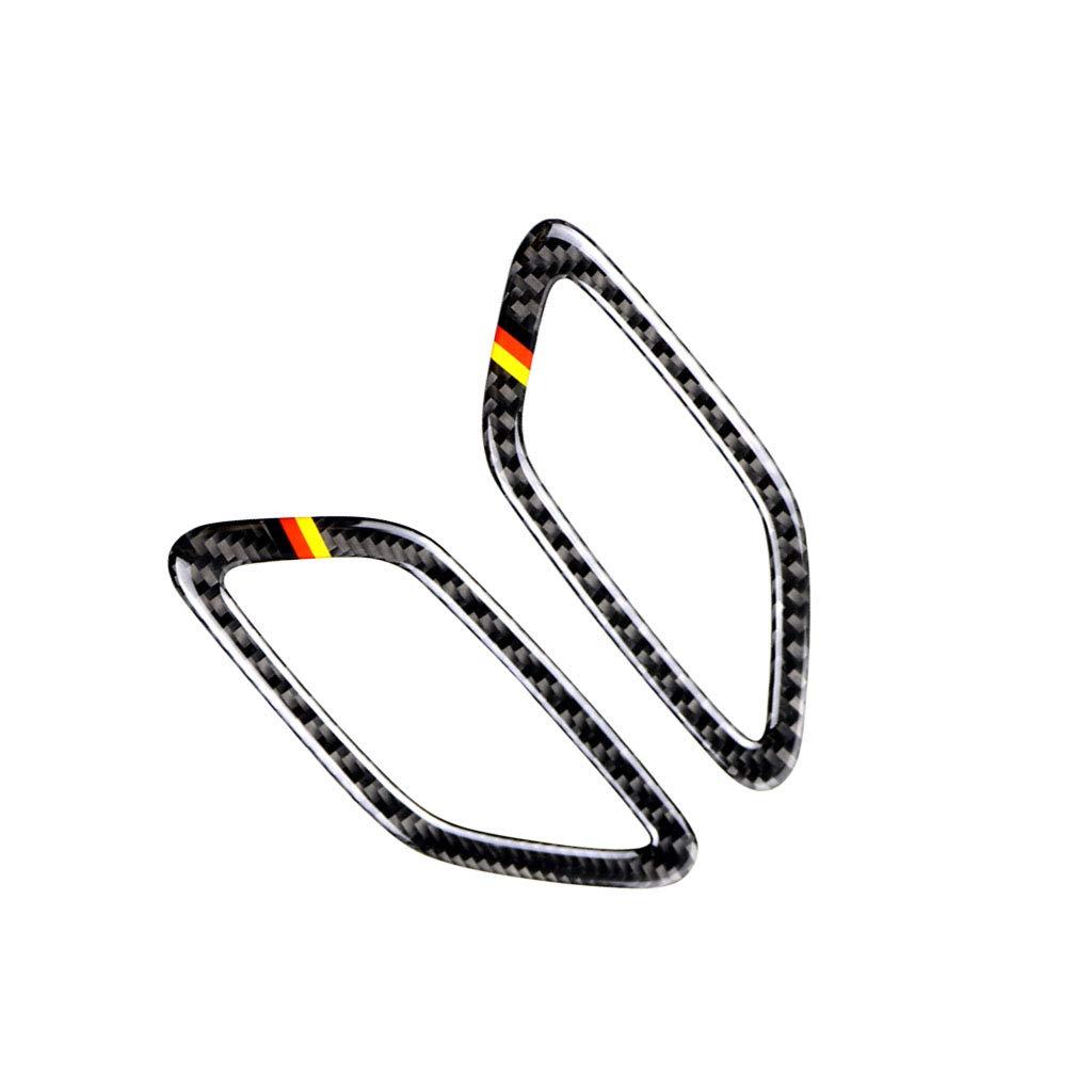 Colore Bandiera Tedesca WOVELOT Fiber Dashboard Air Outlet Frame Auto Sticker Car Styling per Mercedes Classe a 2013-2018 Cla 2014-2018 Gla 2015-2018