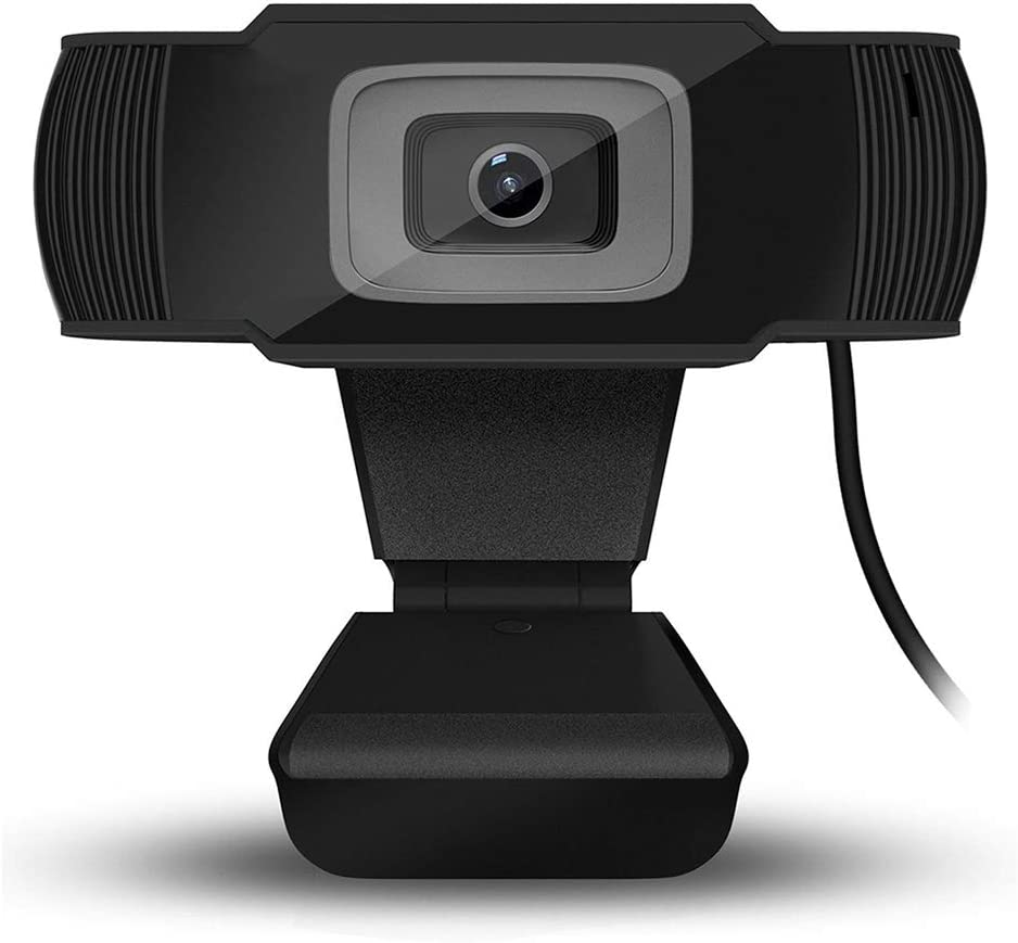 Mainstayae Full HD 1080P Webcam USB Mini Computer Camera Built-in Microphone Flexible Rotatable for Desktop