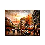 Oil Painting On Canvas Paris Best Unframed