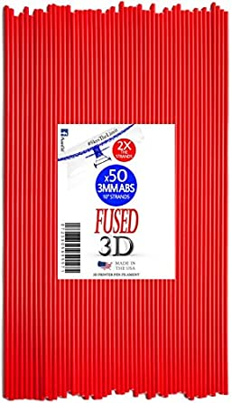 fused3d impresora 3d pen filamento 50 hilos de 10 Inch 3 Mm Abs ...