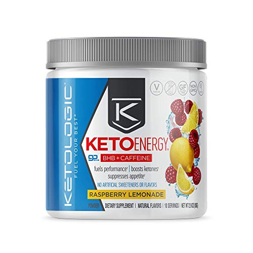 Ketologic BHB Exogenous Ketones Powder with Caffeine | Supports Low Carb, Keto Diet & Boosts Energy, Focus | Keto Pre…
